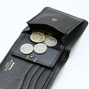a3d4f6f9a4fc 2つ折り財布(縦型オープン小銭入れ付) メンズ レザー ブラック チョコ ...